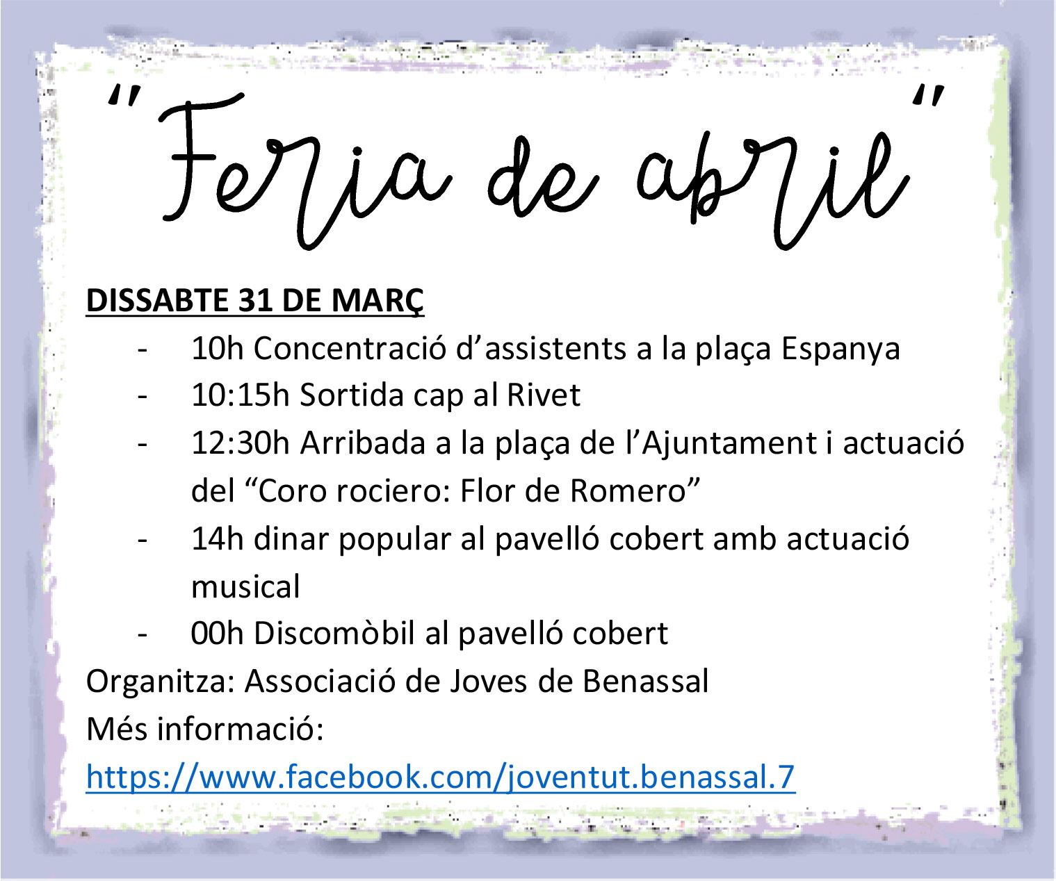 Feria d'Abril Benassal