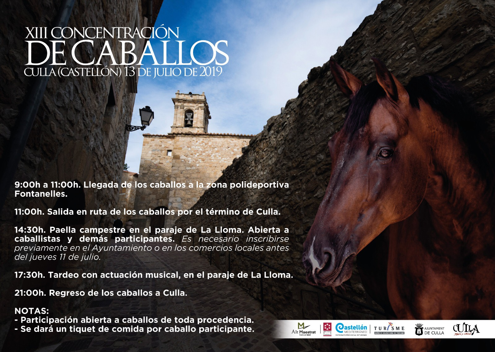 Llega la XIII Concentración de caballos de Culla