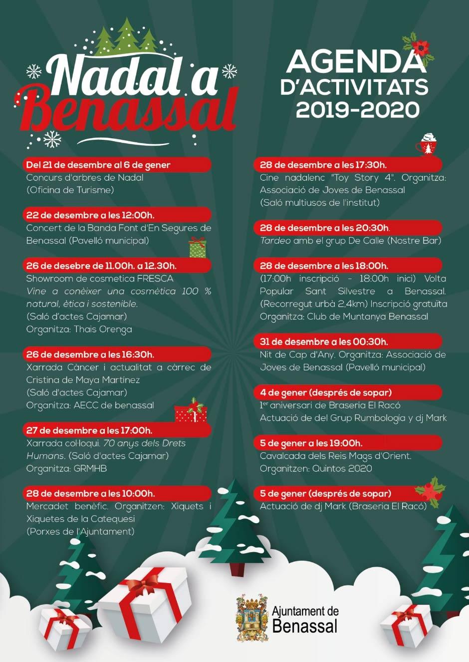 Nadal a Benassal · Actividades