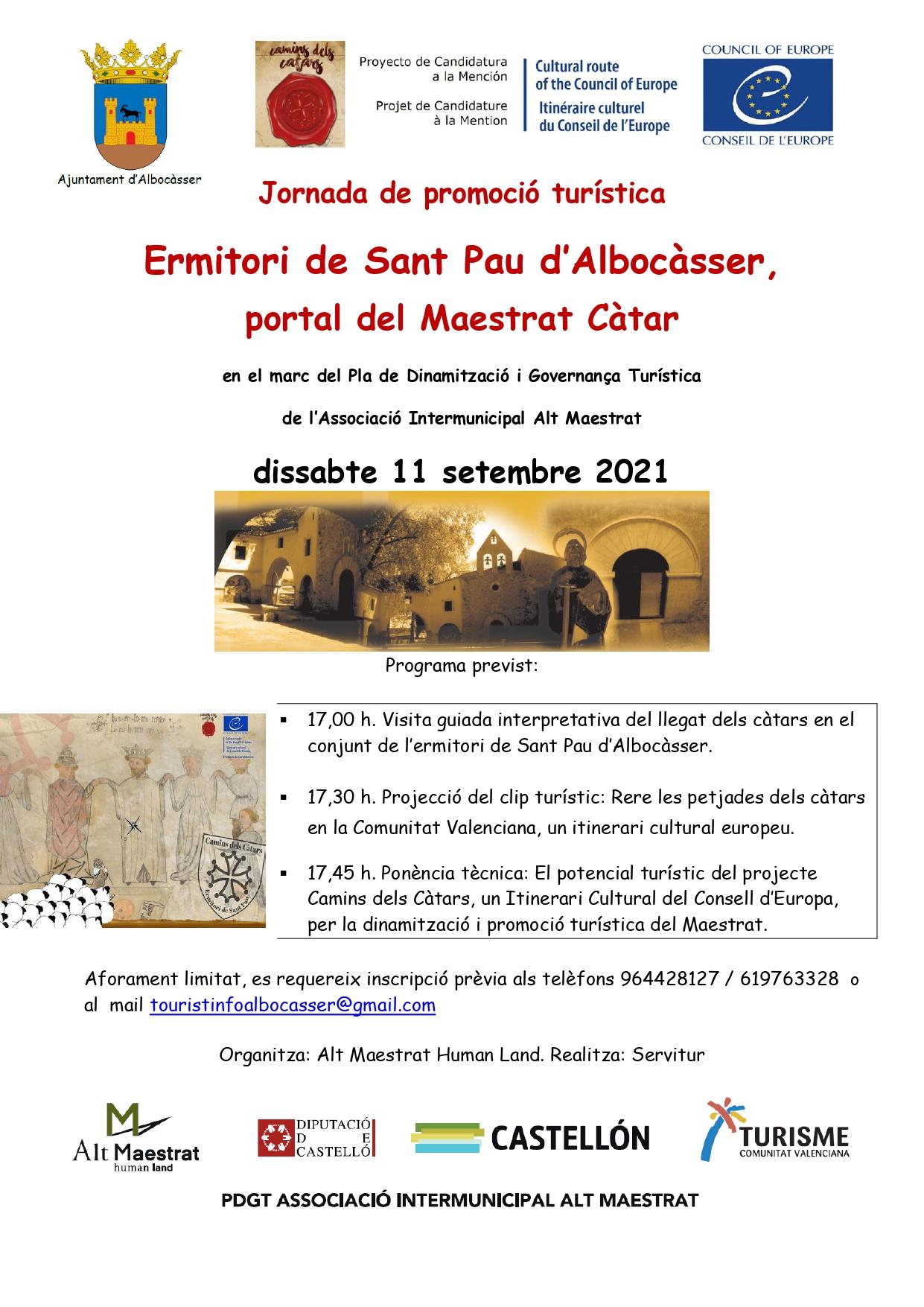 Jornada de promoción turística del Alt Maestrat Human Land sobre el legado de los cátaros en Albocàsser